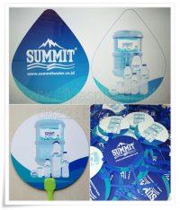 Kipas Plastik untuk Promosi Air Mineral dalam Kemasan